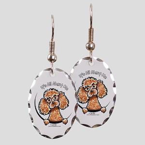 Apricot Poodle IAAM Earring Oval Charm