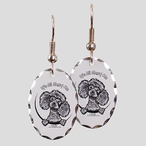 Gray Poodle IAAM Earring Oval Charm