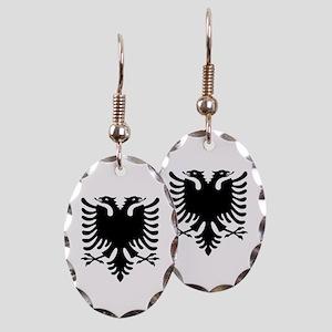 Albanian Eagle Earring Oval Charm