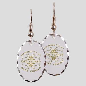 Married My Best Friend 45th Earring Oval Charm