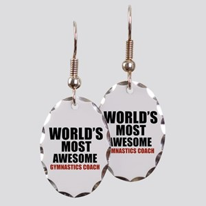 World's Most Awesome Gymnastics Earring Oval Charm
