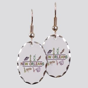New OrleansThe Big Easy Earring Oval Charm