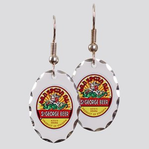 Ethiopia Beer Label 4 Earring Oval Charm