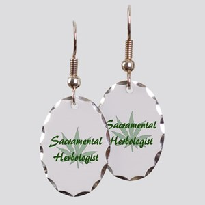 Sacramental Herbologist Earring Oval Charm