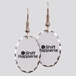 Shift Happens Earring Oval Charm
