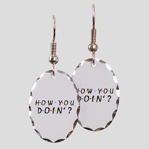 'How You Doin'?' Earring Oval Charm