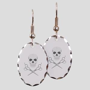 Skull Scissors Earring