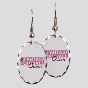 Fantasy Football Queen Earring Oval Charm