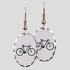 Bicycle bike Earring Oval Charm