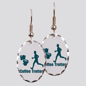 Coffee Trotter Earring Oval Charm