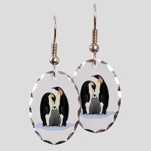 Penguin Family Earring Oval Charm