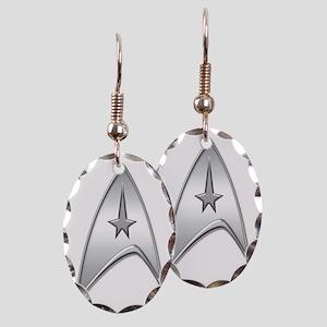 StarTrek Command Silver Signia  Earring Oval Charm