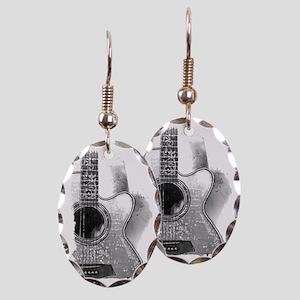 Guitar Earring Oval Charm