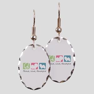 Peace, Love, Havanese Earring Oval Charm