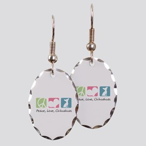 Peace, Love, Chihuahuas Earring Oval Charm