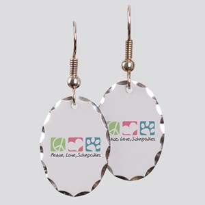 Peace, Love, Schnoodles Earring Oval Charm