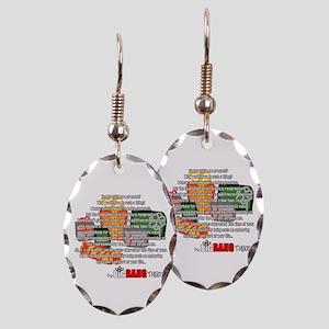 Sheldon's Gift Earring Oval Charm