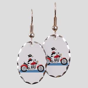 Dog Motorcycle Earring Oval Charm