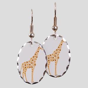Giraffe Earring Oval Charm