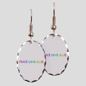 Peace Love Allie Oval Earings