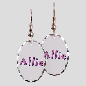 Allie Pink Giraffe Oval Earings