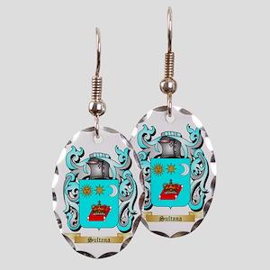 Sultana Earring Oval Charm
