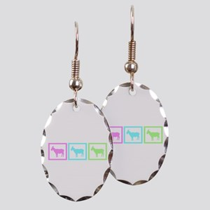 Goat Squares Earring Oval Charm