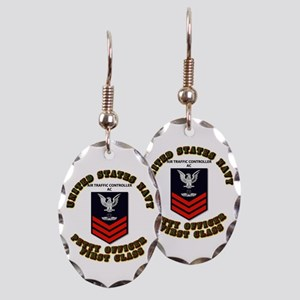Navy - Air Traffic Controller - PO1 with Text Earr