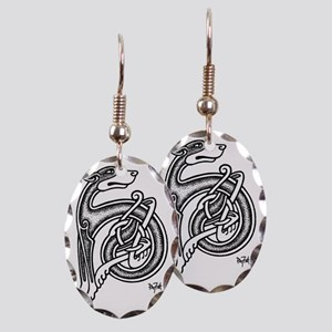Celtic Sighthound Earring Oval Charm