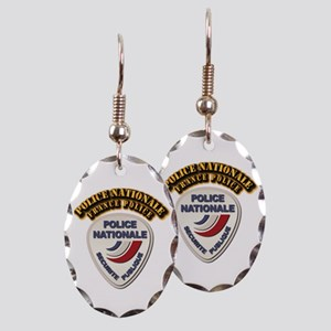 Police Nationale France Police Earring Oval Charm