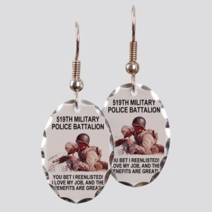 Army-519th-MP-Bn-Poster Earring Oval Charm