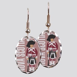 canada Earring Oval Charm