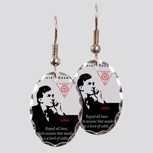 aleister-crowley-repeal-laws-ma Earring Oval Charm