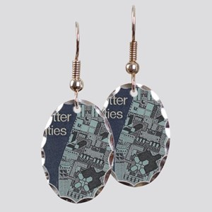 City Stamp Earring Oval Charm