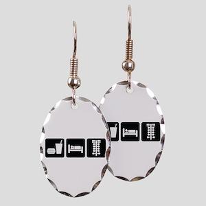 Eat Sleep Drag Earring Oval Charm