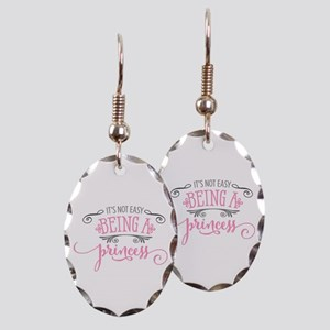 It's Not Easy Being A Princess Earring Oval Ch