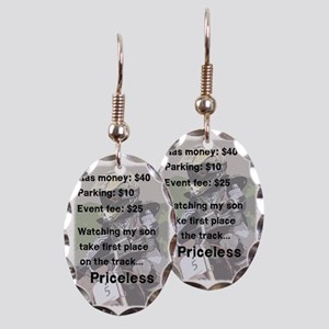 Priceless Earring Oval Charm