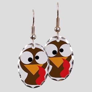 Turkey Face, Gobble Gobble Gobb Earring Oval Charm