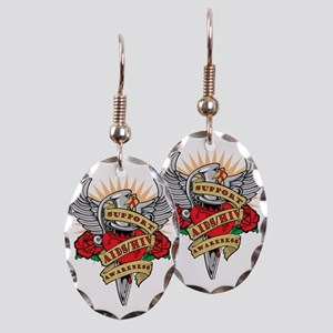AIDS-HIV-Dagger Earring Oval Charm