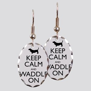 Keep Calm and Waddle On Earring Oval Charm