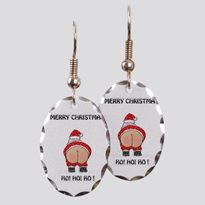 Merry Christmas! Earring Oval Charm