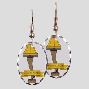 A Major Award Ribbon Earring Oval Charm