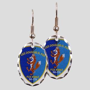 uss douglas h fox patch transpa Earring Oval Charm