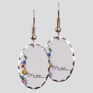 Be Now Chakras for white Earring Oval Charm