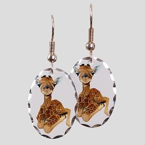 baby giraffe Earring Oval Charm