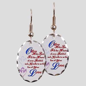 O Come Holy Spirit Earring Oval Charm