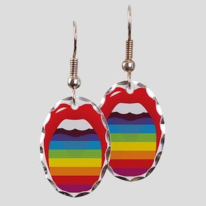 Lipstick Lesbian Domination Earring Oval Charm