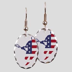 Lacrosse IRockMericaHorz Earring Oval Charm
