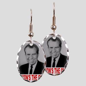 ART Nixons the one Earring Oval Charm