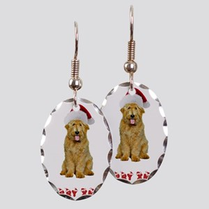 Goldendoodle Christmas Earring Oval Charm